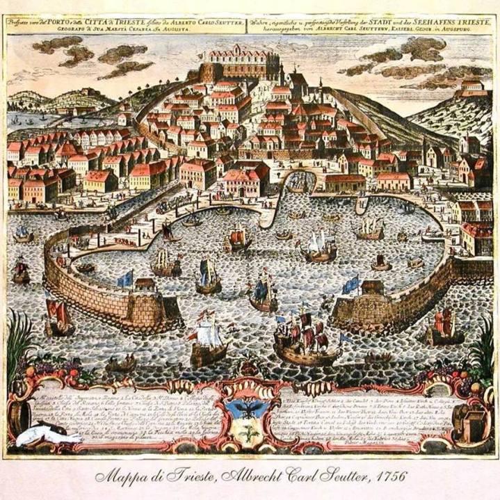 Cartina Trieste Settecento