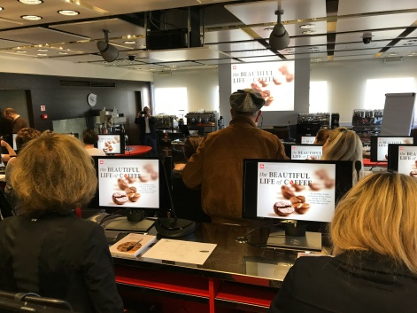 A look at one of the lecture halls at Illy HQ