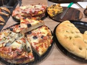 pizzette and focaccia