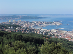 Ph. BOT Trieste as seen from the Altopiano