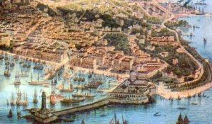 Lazzaretto San Carlo in a famous print by Rieger