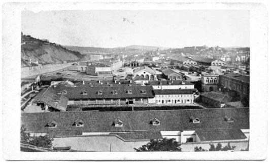 Train Station of Trieste and Lazzaretto di Santa Teresa (1870), Fototeca dei Civici musei di storia ed arte