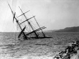 web photo of a sunken schooner