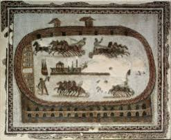 Ferragosto racesCircus Games, from Carthage, Roman, end of 2nd century AD (mosaic), Musee National du Bardo, Le Bardo, Tunisia / The Bridgeman Art Library