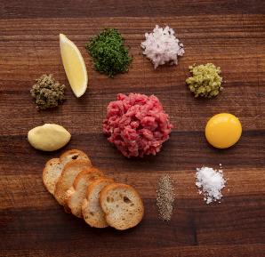 Tartare ingredients